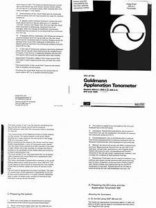 Goldmann Applanation Tonometer Manual  Hs