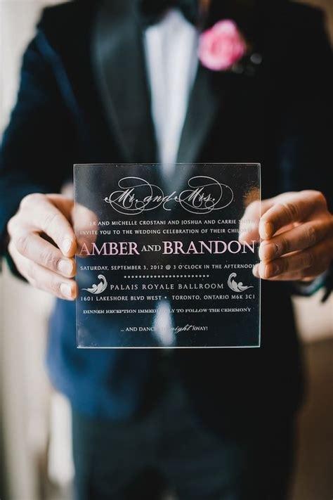 Acrylic Invitations Photo Heavy Acrylic wedding
