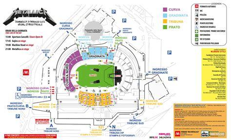 Mappa San Siro Ingressi Metallica La Piantina Dello Stadio Di Udine