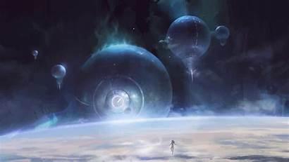 Thefatrat Calling Futuristic Planet Space Artwork Grimmer