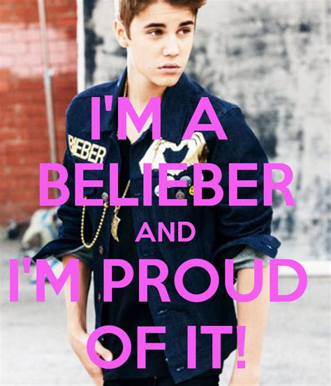 I'm A Belieber And I'm Proud Of It! Poster  Pocus  Keep Calmomatic