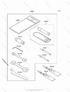 Kawasaki Atv 2005 Oem Parts Diagram For Owner U0026 39 S Tools