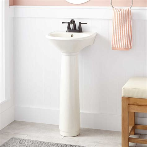 Pedestal Sink For Small Bathroom by Farnham Porcelain Mini Pedestal Sink Bathroom