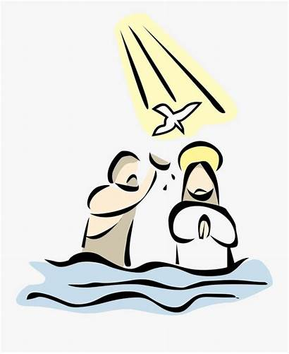 Baptism Lord Clip Clipart Holy Jesus Transparent