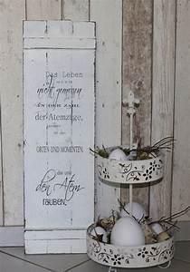 Shabby Chic Deko Onlineshop : deko objekte schild holz shabby chic das leben ein designerst ck von white living art bei ~ Frokenaadalensverden.com Haus und Dekorationen
