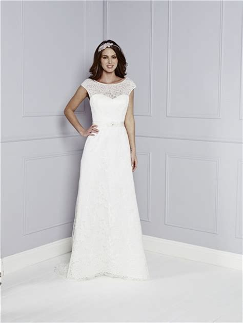 Boat Neck Wedding Dress Lace by Destination Sheath Boat Neck Cap Sleeve V