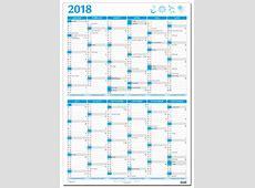 Kæmpekalender whiteboard højformat 2018