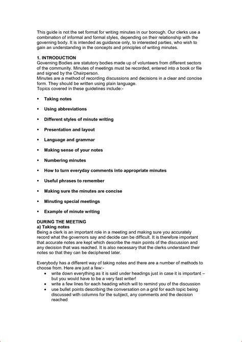 format  meeting minutes bookletemplateorg