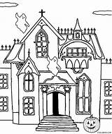 Haunted Coloring Castle Pages Printable Printables Drawing Cool2bkids Halloween Spooky Print Line Clip Getdrawings Getcolorings Getcoloringpages sketch template