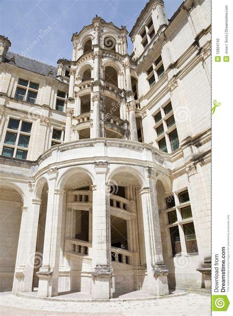 escalier de ch 226 teau de chambord photographie stock image