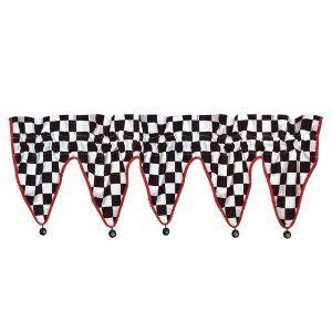 checkered flag bedroom curtains checkered flag car racing window valance