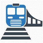 Icon Rail Railway Transportation Train Subway Railroad