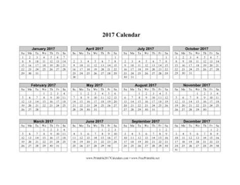 sheets calendar template 2017 printable 2017 calendar horizontal grid descending
