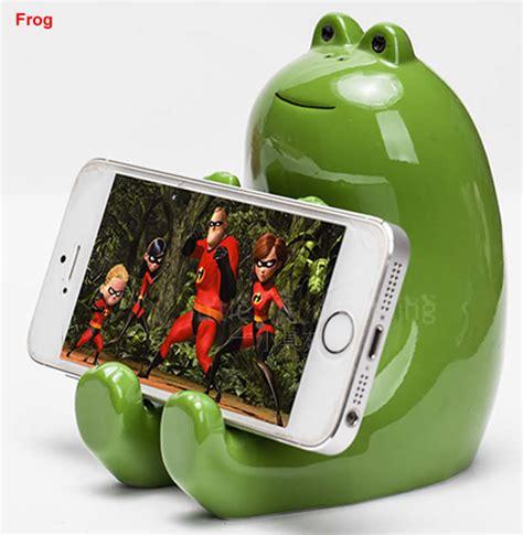 ceramic animal piggy bank cell phone stand holder feelgift