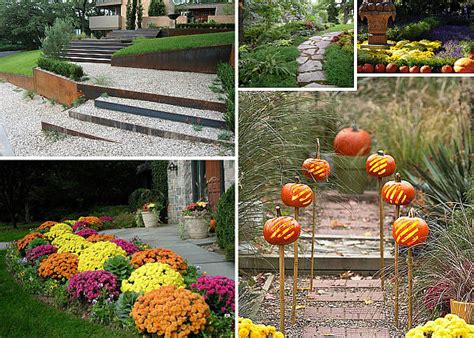 garden pathway ideas for fall decoration design