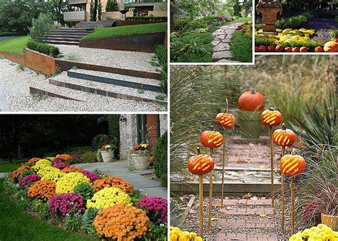 Pumpkins On A Garden Path Decoist