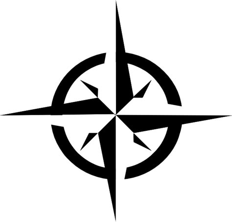 compass black and white white compass clip at clker vector clip