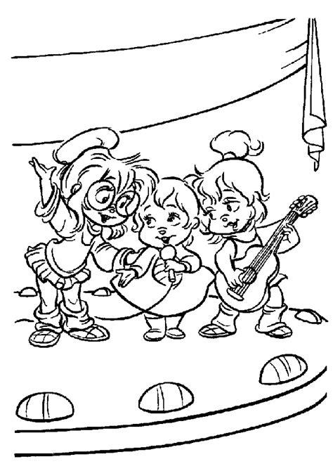 Zingen Kleurplaat by Alvin And The Chipmunks Zingen Alvin And The Chipmunks