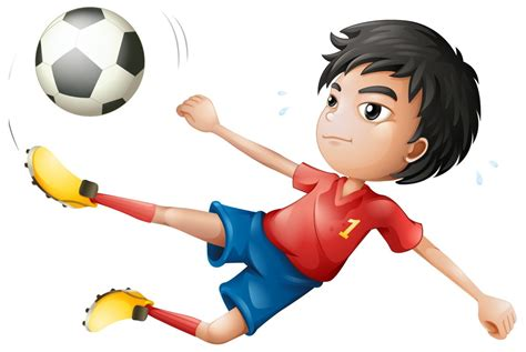 playing cartoon boy playing football cartoon cliparts co