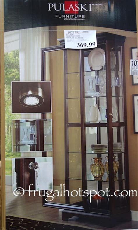 Pulaski Glass Panel Display Cabinet by Costco Pulaski Sliding Door Display Cabinet 369 99