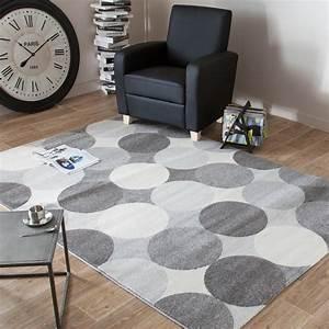 Tapis Blanc Et Gris : tapis de salon gris et blanc id es de d coration ~ Melissatoandfro.com Idées de Décoration