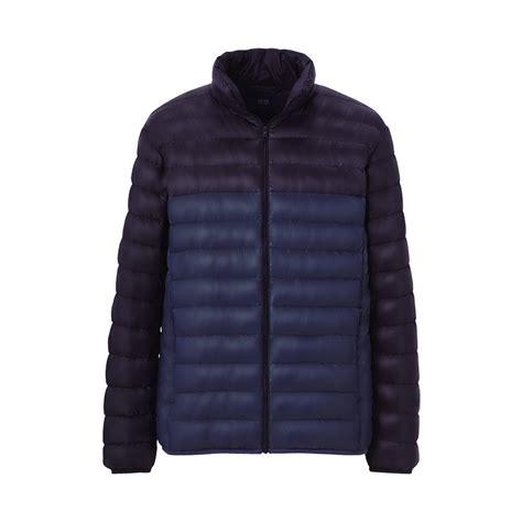ultra light down jacket uniqlo premium down ultra light jacket in blue for men lyst