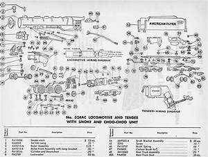 American Flyer Locomotive 324ac Parts List  U0026 Diagram