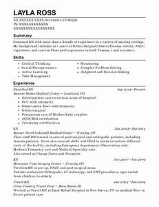 Float Pool Nurse Physicians Regional Rn Staff Nurse Resume Sample Resumehelp