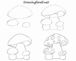 How To Draw Mushrooms For Kids by SteveLegrand | Drawings ...