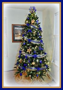 Blue, And, Gold, Christmas, Tree, 2013, This, One, Is, For, My, Husband, Who, Retired, From, T, U2026