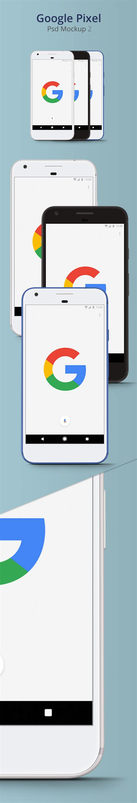 Download psd mockups to better showcase and present your work in photorealistic way. Google Pixel Psd Mockup 2 - CreativeCrunk