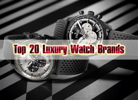 Top 20 Luxury Watch Brands  Fine High Living