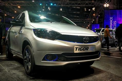 Large Electric Vehicles by Tata Tigor Electric Vehicle Showcased At 2018 Auto Expo