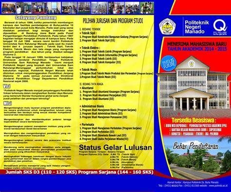 pendaftaran mahasiswa  politeknik negeri manado