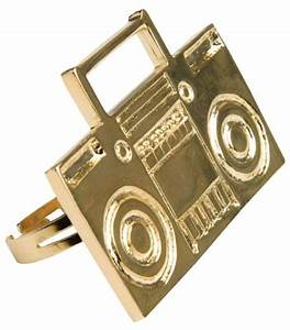 rapper costume gold boom ghetto blaster ring wedding With ghetto wedding rings