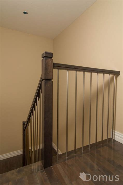 Modern staircase with Zen posts and stainless steel