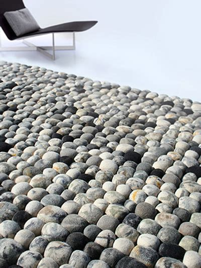 pebble carpet faux pebble rug made of wool digsdigs