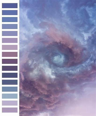 Transparent Palette Clouds Lavender Purple Colors Natural