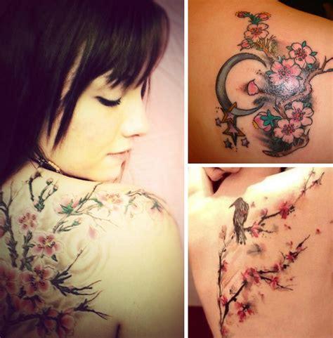 tatouage fleur de cerisier modeles  exemples