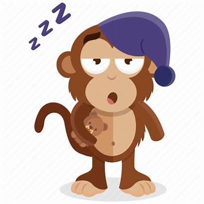 Emoji Tired Sleepy Monkey Emoticon Sticker Icon