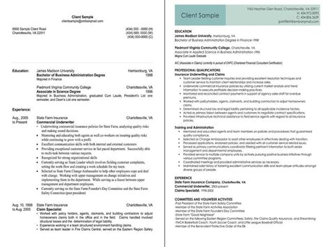 insurance underwriter before and after resume sle jpg