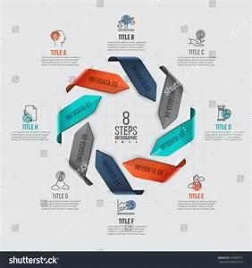 Vector Arrows Infographic Template Cycle Diagram Stock Vector 495893551