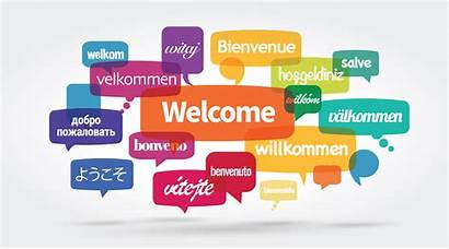 Welcome Languages Different Website Word Unit Clipart