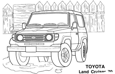 land cruiser coloring pages    print