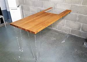 Table En Plexiglas : table en bois et plexiglas design diy mustermania ~ Teatrodelosmanantiales.com Idées de Décoration