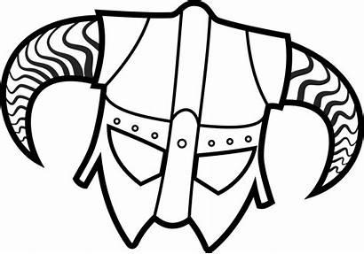 Skyrim Helmet Svg Drawing Coloring Pages Drawings