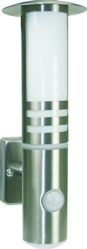 sicherheit für zuhause byron elro wandleuchte rvs70led edelstahl 25w g9 halogenle mit pir bewegungs und led