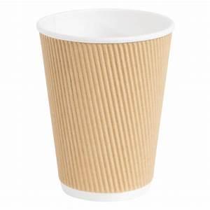 Fiesta, Ripple, Wall, Takeaway, Coffee, Cups, Kraft, 340ml, 12oz, -, P, Gp445