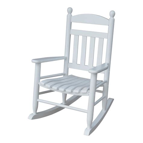 youth slat white patio rocking chair 201sw rta the home