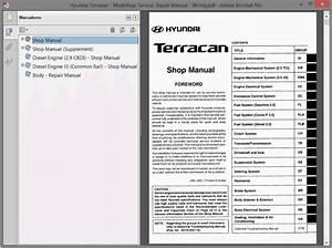 Hyundai Terracan Service Manual Wiring